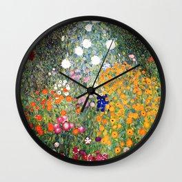 The Garden by Gustav Klimt Wall Clock
