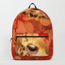 Face to face - beautiful giraffes - love is in the air #decor #society6 #buyart Backpack
