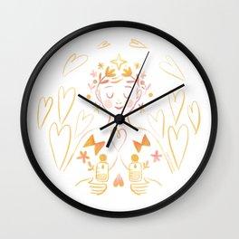 Pumping mommy goddess Wall Clock