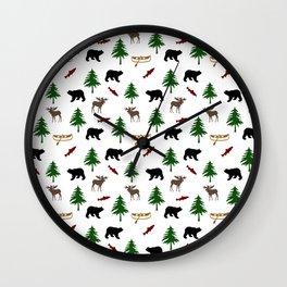 Moose Bear Wall Clock