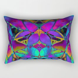 Floral Fractal Art G308 Rectangular Pillow