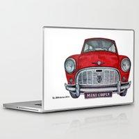 mini cooper Laptop & iPad Skins featuring Mini Cooper by Jorge Antunes