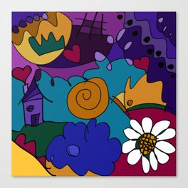 """""""Before the Celebration"""" bold, colorful doodle art Canvas Print"""