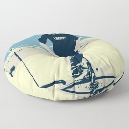 On the Rim - Scooter Boy Floor Pillow