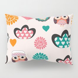 Owls and hearts Pillow Sham