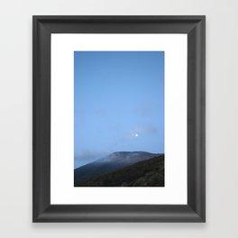 moonlight mountains Framed Art Print