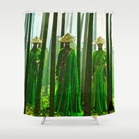 china Shower Curtains featuring China  by Saundra Myles