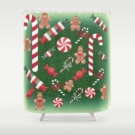 Christmas Candy Cheer Shower Curtain