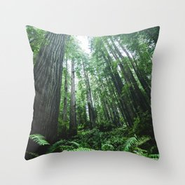 Redwood National Park- Pacific Northwest Nature Photography Throw Pillow