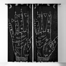 'Palmistry by Night' and moon phases by Kristen Baker Blackout Curtain