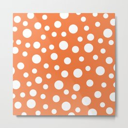 Crazy Dots: ORANGE Metal Print