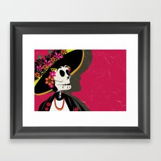 Dia de los Muertos Woman Framed Art Print