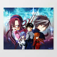 evangelion Canvas Prints featuring Evangelion by Psyconorikan