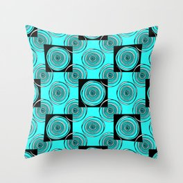 Turquoise Rings Throw Pillow