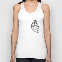 anatomical heart Tank Tops featuring Anatomical Heart by Horse and Hare