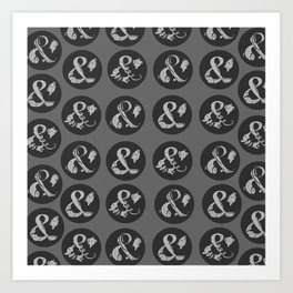 Ampersand Pattern Art Print