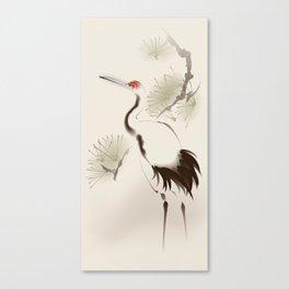 Oriental Red-Crowned Crane 002 Canvas Print