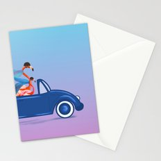 Flamingos On The Road !! Stationery Cards