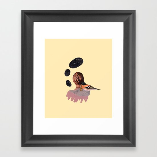 all at once, disappeared Framed Art Print