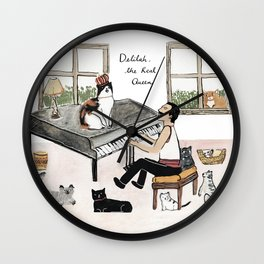 Freddie and his Cats Wall Clock