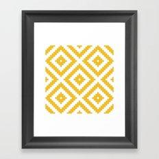 Yellow aztec Framed Art Print