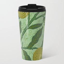 William Morris - Wallpaper Sample With Lemons And Branches. Travel Mug