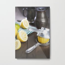 Lemonade on table. Metal Print