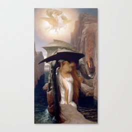 Perseus and Andromeda, Lord Leighton Frederic Canvas Print