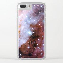 Prawn Nebula Clear iPhone Case