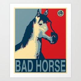 Galloping Campaign Art Print
