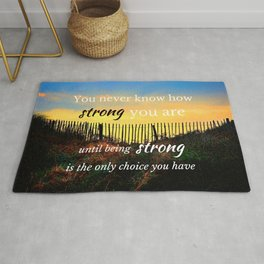 Strength In Adversity wise quote Rug