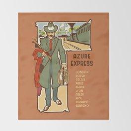 Azure Express train travel Throw Blanket