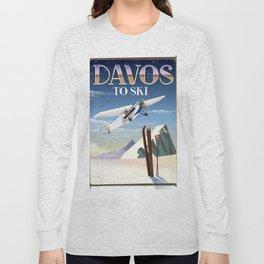 Davos ski poster Long Sleeve T-shirt