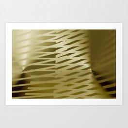 Sepia light stripes room Art Print