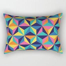 Sunset Triangles Rectangular Pillow