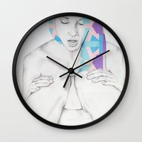 breakfast Wall Clocks featuring Breakfast by L.B.
