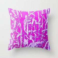 Neon Scratches  Throw Pillow