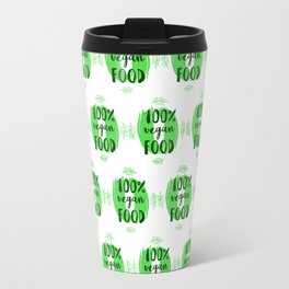 Hand-drawn typographic elements for design. Natural products and vegan food labels Travel Mug