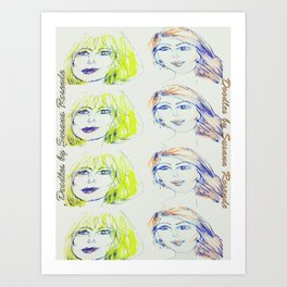 Blondie and Ginger Art Print