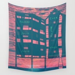 Palafito for Rent Wall Tapestry