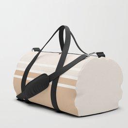 Lines Rust Duffle Bag