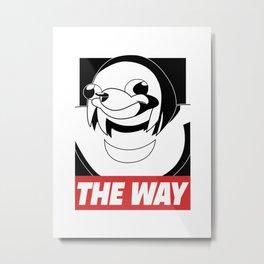 OBEY THE WAY Metal Print