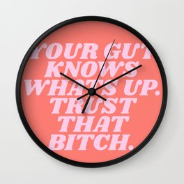 your gut knows whats up Wall Clock
