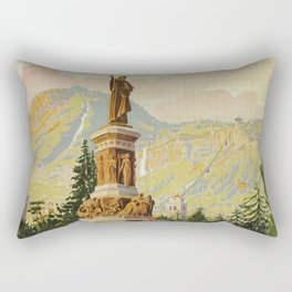 Trento Italy Statue Dante Rectangular Pillow