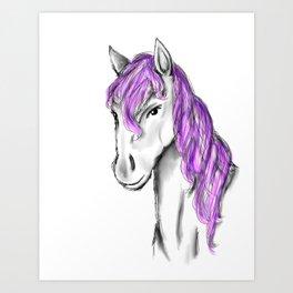 Princess Horse Art Print