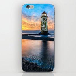 Talacre Lighthouse Sunset v2 iPhone Skin