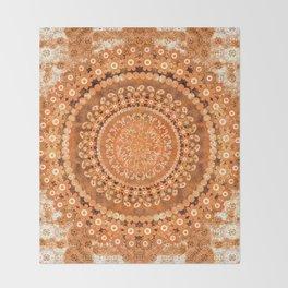 Boho Pumpkin Spice Mandala Throw Blanket