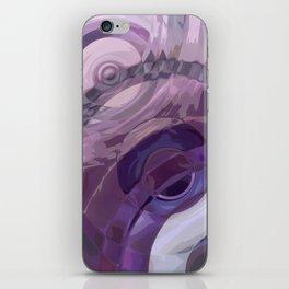 Purple Ripples iPhone Skin