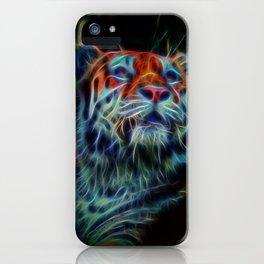 Neon Tiger iPhone Case