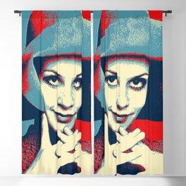 """""""Twiggy Pop Stencil Portrait"""" Blackout Curtain"""